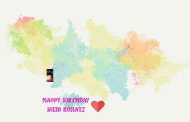 Birthday schatz happy mein Schöne Liebe