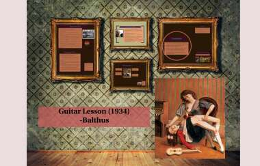 balthus guitar lesson The Guitar Lesson by Ana Anana