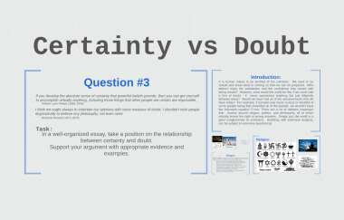 Essays on the relationship between certainty and doubt professional research proposal ghostwriters site usa